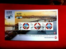 New Zealand  NZ2020 STAMP EXHIBITION  MARITIME 3 STAMPS MINI SHEET COVER 19 MAR