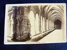 OLD ALBUMEN/CABINET CARD: ARLES~GALERIE DU CLOITRE ST. TROPHISME~ca 1875