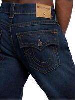True Religion Mens $179 Jeans Geno Slim Stretch Blue Cascade MDABM622US