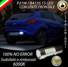 LAMPADA RETROMARCIA 15 LED P21W BA15S CANBUS FIAT BRAVO 6000K NO ERROR
