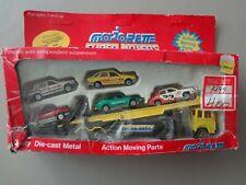 Majorette Super Movers 600 Series #3092 Auto Transport w/5 Cars Damaged Box
