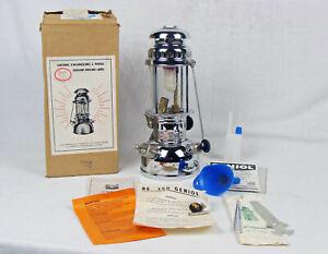 alte Geniol Automatic 150 CP Germany Petroleumlampe in OVP mit Zubehör NOS