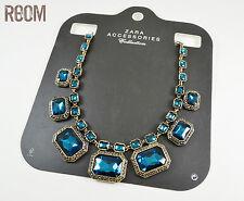 ZARA blue gems rhinestone necklace