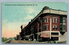 BLUEFIELD W.Va PRINCETON AVENUE 1914 ANTIQUE POSTCARD