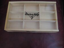 Fender Custom Shop Logo Wood Store Display Box Case Fender Guitar Picks Pick NOS