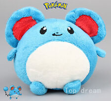 "Pokemon Maril Marill Water Fairy Plush Toy Blue Mouse Stuffed Animal 5"" Teddy"