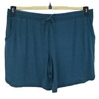 St. John's Bay Womens Short Teal Pockets 3X Stretch Drawstring Activewear New