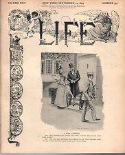 1893 Life September 14-Vassar Girl, West Point Cadet;Sidesaddle;Black watermelon