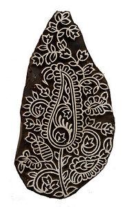 Stampo Inchiostro Legno A Batik 17 CM Fiore Di Pushkar Rajasthan India 2040