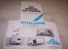 MAZDA E1300 E1600  EZYLOADER VAN  Orig Sales Brochure