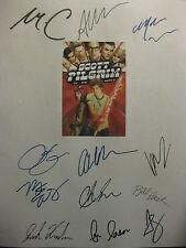 Scott Pilgrim VS the World Signed Film Script X12 Michael Cera Chris Evans repnt