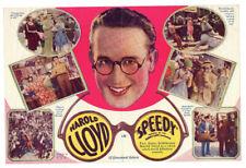 HAROLD LLOYD - Vintage 1928 Silent Film Classic - SPEEDY - Comedy MOVIE HERALD