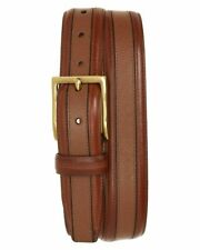 Cole Haan Textured Inlay Leather Belt WOODBURY Size 44