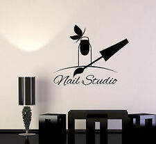 Vinyl Wall Decal Nail Studio Manicure Beauty Salon Signboard Stickers (1498ig)