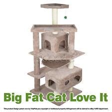 "Vidapets 71"" Almond Big Fat Cat Tree Condo Furniture Scratch Post Play House"