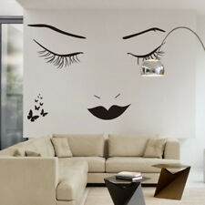 Women Girl Eyelash Wall Sticker Wallpaper Picture Art Living Room Bedroom Decor