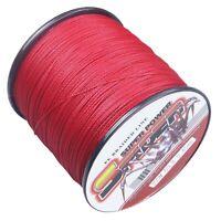 Spider 100M-2000M Red Super power 100% pe Dyneema Braided Fishing Line 6LB-300LB