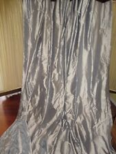 DRAPE STYLE IRIDESCENCE PEWTER GRAY (PAIR) LINED POLE TOP PANELS 47 X 106