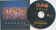 DEF LEPPARD CD Goodbye USA 1 Track PROMO in jewel case w/ Artwork UNPLAYED