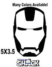 "Iron Man mask Vinyl Decal Car 5""X3.5""  window sticker action stark tony"