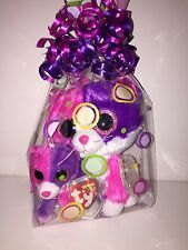 TY PELLIE CAT BEANIE BOOS SET OF 2 (REG BEANIE, KEYCLIP) CELLO-NEW, MINT TAGS