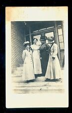 1911 RPPC 4 Women in Doorway Manitou MN DPO (1904/71) Koochiching County MN927