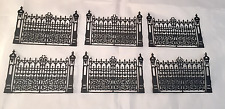 Tim Holtz Die Cuts: Six Black Cardstock Gothic Gates * Halloween Fence * Spooky!