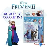 Frozen 2 Children's Frozen 2 Play Pack Anna Elsa with Coloured Pencils