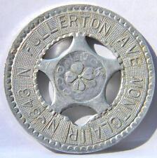 Vintage Harvard Metal Typer Good Luck token-343 N Fullerton Ave, Montclear, NJ