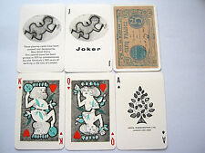 SIRIOL CLARRY DESIGNED GILDED NON STANDARD VINTAGE PLAYING CARDS 52+2J+H 1971