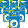 6x Oral B Dental Essential Floss MINT WAXED 50m