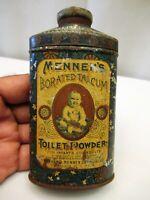 Vintage Mennen'S Borated Talcum Toilet Powder Advertising Tin Box America Colle*