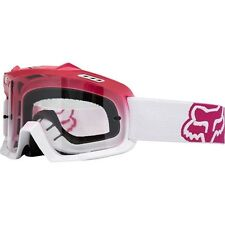 Fox Racing Youth Kids Air Space Pink Clear MX MTB Off Road Goggles