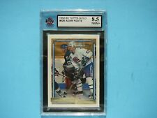 1992/93 TOPPS NHL HOCKEY GOLD CARD #528 ADAM FOOTE ROOKIE KSA 8.5 NM/MT+ SHARP!!