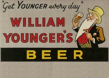 WILLIAM YOUNGER'S BEER, Edinburgh, Scotland, 1955, 250gsm A3 Poster