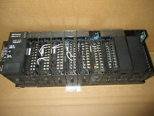 GE FANUC 90-30 SERIES CHASSIS W/ POWER SUPPLY AND 10 MODULES HUCAB