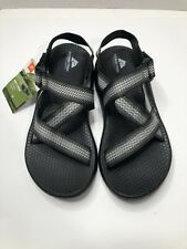 Ozark Trail Black Gray White Adjustable Men's Strap Gladiator Sandal - Size 8