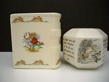 2 PETER RABBIT BANKS - ONE WEDGEWOOD- ONE ROYAL DOULTON
