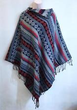 Hippie Bohemian Indian Gypsy Festival Wool Blend Tribal Cape Poncho Fall Winter