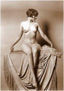 Vintage 34 Retro Erotic Nude female sepia A4 A3 A2 PHOTO EDIT REPRINT RussellArt