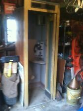 VINTAGE WOODEN TELEPHONE BOOTH.