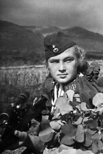 WW2  Photo WWII Soviet Female Sniper Mironova Fedorovna  World War Two / 1598