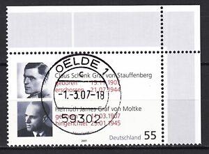 BRD 2007 Mi. Nr. 2590 mit Eckrand TOP Vollstempel Gestempelt LUXUS!!! (30304)