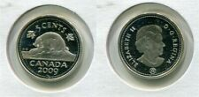 2009 Canada Frosted Silver 5 Cent Beaver Nickel Proof