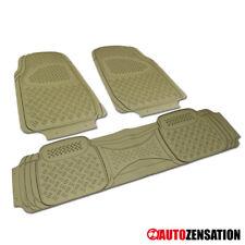 All Weather Heavy Duty Beige PVC Non-Slip Truck SUV Van Floor Mat 3PC