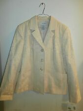 SAG HARBOR LONG Sleeve Jacket  size 14 NWT PALE YELLOW