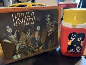 Kiss Band Memorabilia Lunchbox 1977 Original With Thermos Aucoin Gene Simmons
