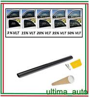 2x PROFESSIONALE ANTIGRAFFIO PELLICOLA OSCURANTE VETRI AUTO NERO 50% 76cm x 3m
