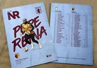 Aston Villa v Watford Matchday Programme 21/1/20!!!