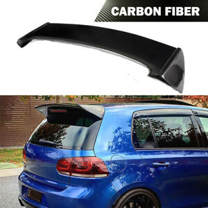Fit For Volkswagen VW Golf VI 6 MK6 GTI R20 10-15 Rear Roof Spoiler Carbon Fiber